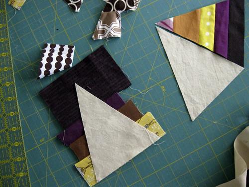 piece scraps for wonky pinwheels