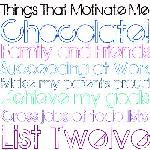 List Twelve: Thing That Motivate Me