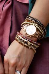 agaci tonal multi beads bracelet
