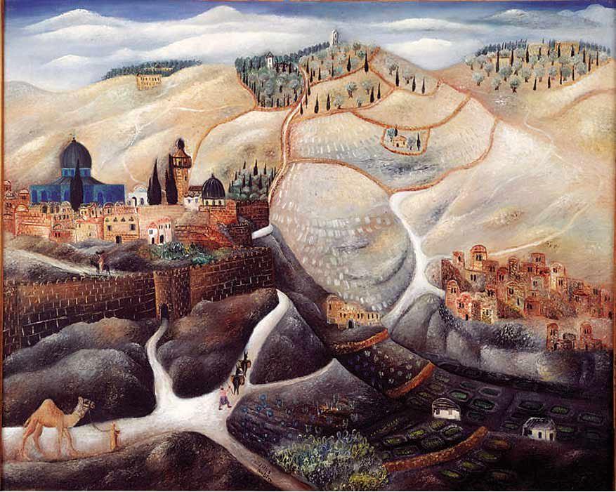 Rubin, Reuvin (1893-1974) - 1925 Jerusalem (Rubin Museum, Tel Aviv, Israel)