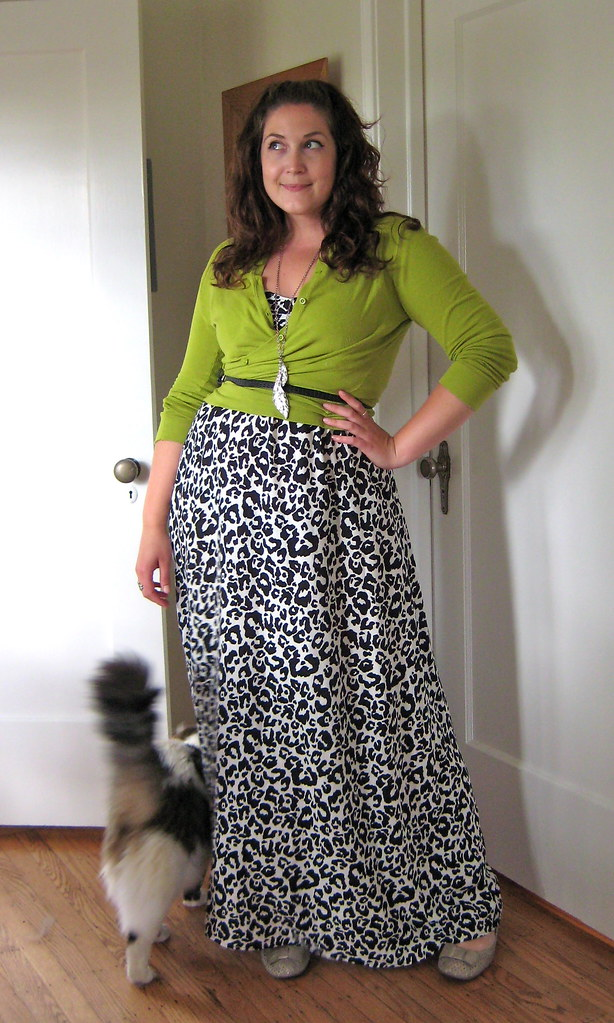 leopard and lime (and a cat butt)