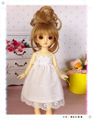 White Angle dress for Yosd, Volks (BeautifulPinPin) Tags: wedding white outfit doll dolls dress lace cloth volks yosd kakeru beautifulpinpin bjdcloth