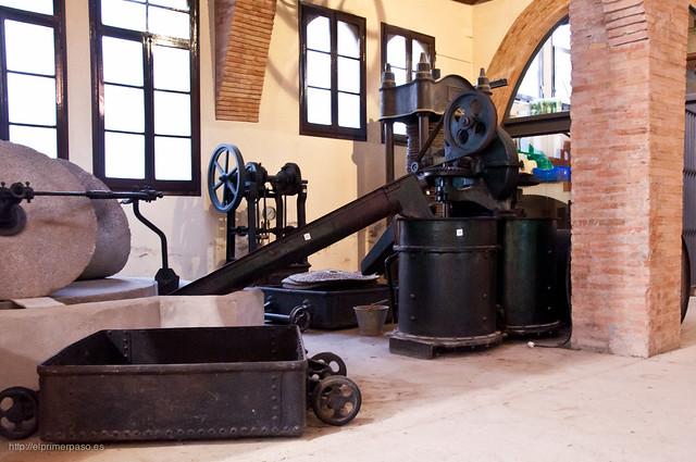 Maquinaria en el museo agrícola de Cambrils