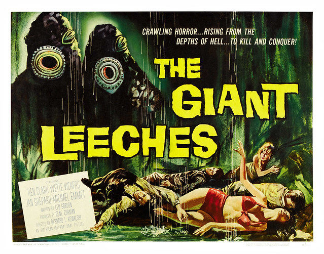 The Giant Leeches (American International, 1959). Half Sheet