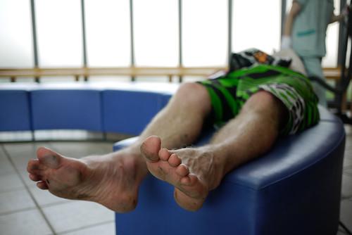 Bare feet near Jozankei, Hokkaido, Japan