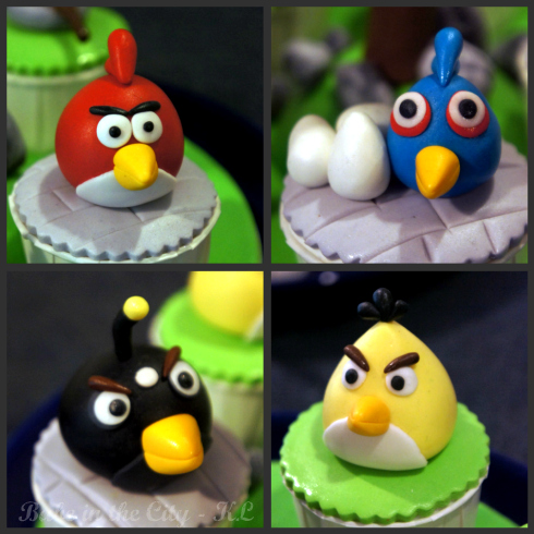 Angry birds close up