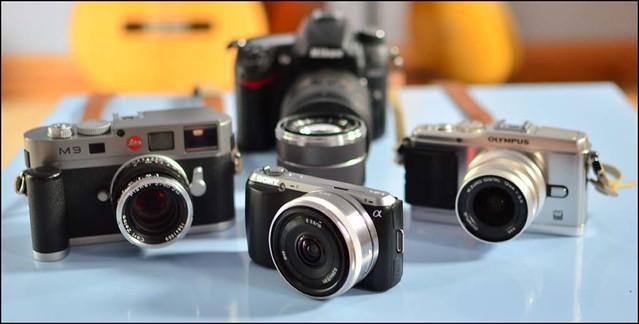 Sony NEX-C3 16mm f/2.8 18-55mm Olympus E-P3 12mm f/2 Leica M9 Zeiss 50mm f/2 T* Planar Nikon D7000 16-85mm