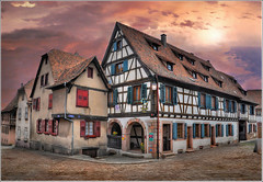 The White House (Jean-Michel Priaux) Tags: street house france home architecture photoshop painting way village medieval alsace maison rue hdr colombage patrimoine wow1 routedesvins dambachlaville patrimony dambach priaux mygearandme ringexcellence