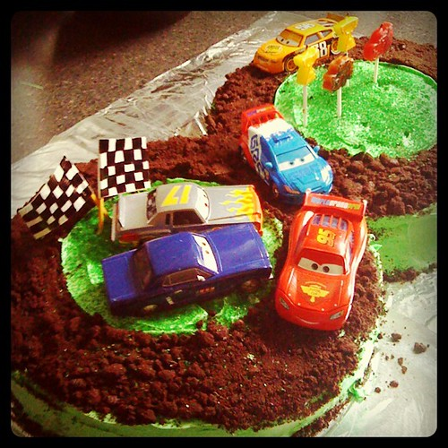 My godson's Cars birthday cake!
