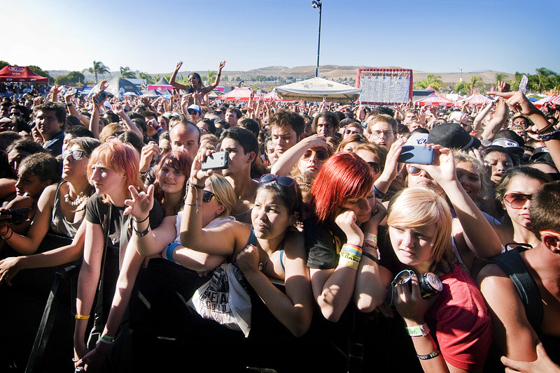 Main Stage Crowd at Warped Tour