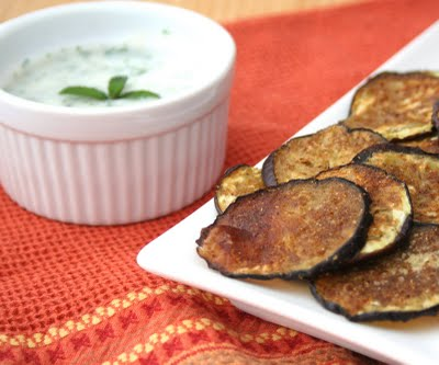 Garam Masala Eggplant Chips with Cilantro Mint Raita | iHerb's Healthy ...