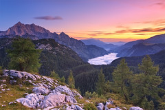 A piece of Heaven - Berchtesgaden (mibreit) Tags: morning summer lake alps nature fog sunrise germany landscape see berchtesgaden heaven nebel view hiking sommer natur berge sight alpen aussicht landschaft wandern funtensee knigsee watzmann krlingerhaus feldkogel