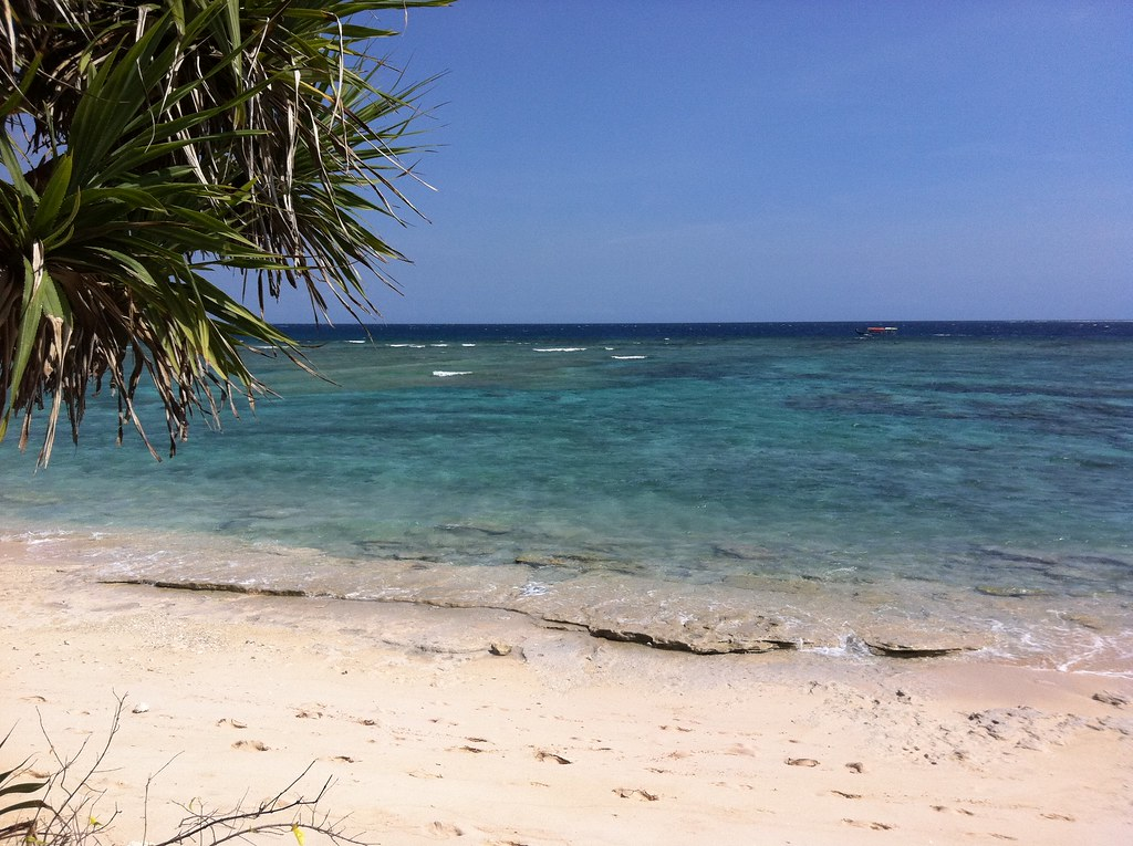 South coast beach, Gili Meno, Lombok, Indonesia