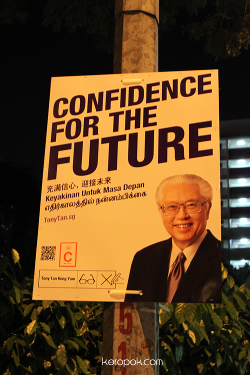 Singapore Presidential Election Campaign - Tony Tan