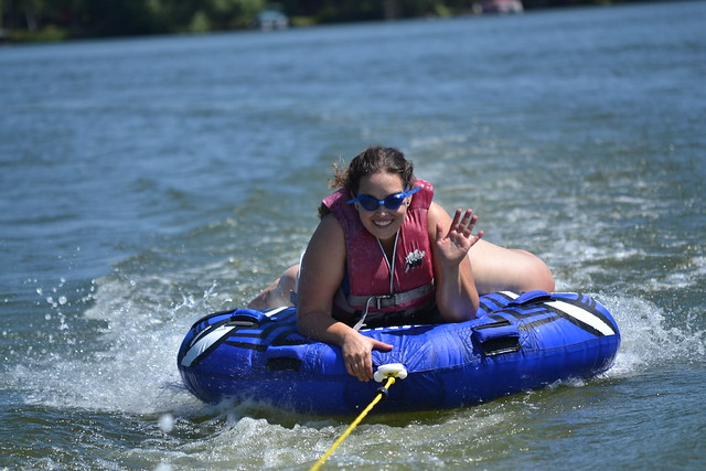 Tubing on Crane Lake