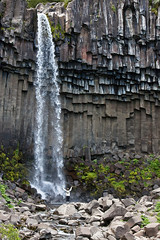 Bon Iver - Holocene at Svartifoss (Black Waterfall), south Iceland (skarpi - www.skarpi.is) Tags: boy music island waterfall iceland nationalpark video postcard columns foss musicvideo sland basalt vide holocene skaftafell stulaberg svartifoss wintertrip pstkort boniver jgarur blackwaterfall jgarurinn