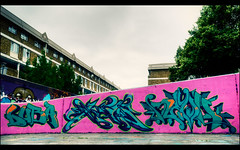 Stockwell - Aug 2011 (303db) Tags: uk england london art south can spray halloffame lambeth hof reoh stockwellgraffiti mobusy