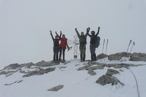 L'équipe au sommet de Tête Blanche