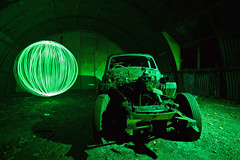 Green Eyed Monster ([Nocturne]) Tags: nightphotography summer lightpainting green cars abandoned 1955 night rust photos orb envy sunbeam nocturne jealous noctography wwwnoctographycouk