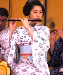 Japanese Flute (love_child_kyoto) Tags: portrait people music woman girl beauty japan lady kyoto pretty august maiko geiko   kimono 1001nights ricoh   miyagawacho hanamachi  flite      takenwithlove   fukuhiro  1001nightsmagiccity yukatakai