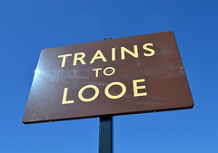 Trains To Looe (R~P~M) Tags: uk greatbritain england sign train cornwall unitedkingdom railway enamel liskeard vitreousenamel