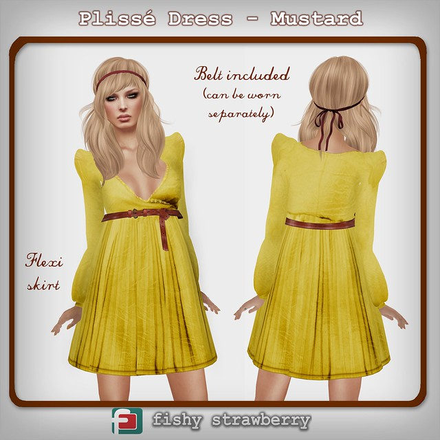 Fashionably Late: Plissé Dress - Mustard