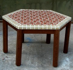 HEX 80 (OD)x45 (h) Cocowood 02 (zillij zellij zellige ,from Indonesia) Tags: pattern islamic zellij zillij zellige moroccanstyle geneturangan moroccanmosaicmosaictable moroccanmsaictable mosaictablecocoutwood ilamicpattern