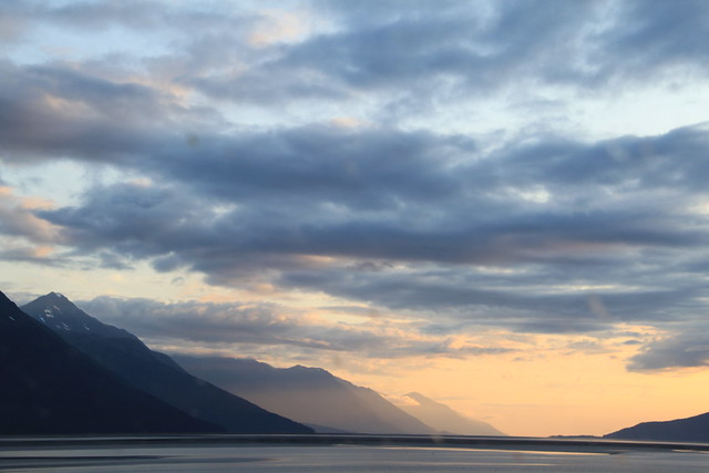 sunset over turnagain