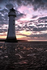 New Brighton Lighthouse @ Sunset (Rob Pitt) Tags: sunset hdr newbrighton newbrightonlighthouse lighthousetrek