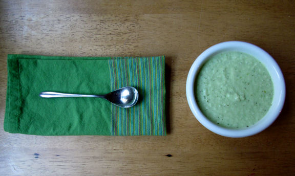 Cucumber Soup with a Spoon