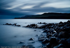 The Old Jetty, Kimmeridge (Terry Yarrow) Tags: uk light sunset sea england sky blur water clouds canon landscape evening coast movement dusk atmosphere dorset contrejour kimmeridge nightfall jurassiccoast eos5d dorsetcoastpath