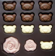 (applel0ve) Tags: bear white rose milk strawberry chocolate kawaii kuma rilakkuma sanx korilakkuma chocolateassort