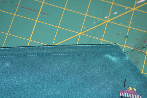 French seam second line of stitching