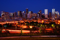 Let's Dance in Denver @ Dusk Tonight (TIA International Photography) Tags: road park street city bridge blue winter light sunset urban sunlight reflection tower history lamp grass skyline night contrast buildings tia river landscape real evening office spring high colorado downtown estate apartment skyscrapers traffic dusk centre may trails center denver sidewalk international lamppost condo 25 hour historical streams interstate olympic olympics vote avenue platte withdrawal committee mile controversy rejection tosin lodo speer arasi tiascapes tiainternationalphotography