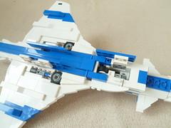 Wheels up! (Corvin Stichert) Tags: lego rockwell vector x31 mbb