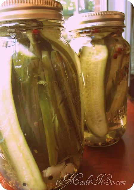 pickles in mason jars