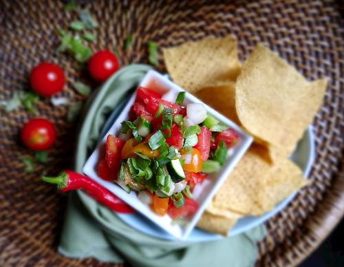 cucumber + zucchini summer salsa