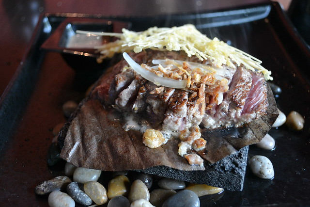 Dozo's Beef Tenderloin on Pu-Ye and Granite Hot Stone