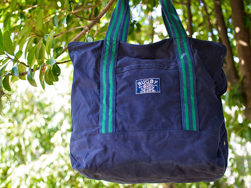 Rugby / Preppy Canvas Tote
