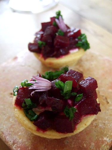 Sportsman beetroot tartlet
