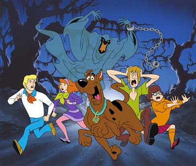 A picture of the animated Scooby Doo crew