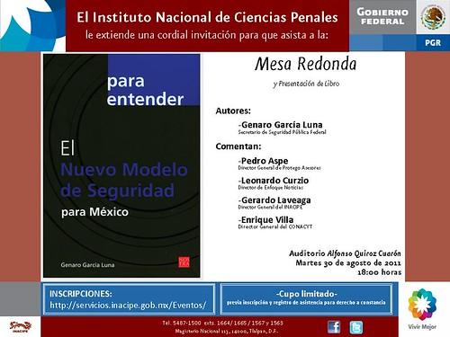 Para entender el Nuevo Modelo de Seguridad para México de Genaro García Luna. Instituto de Ciencias Penales
