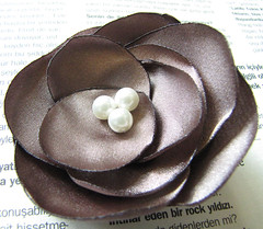 Taupe Blooming Autumn Flower Hair Clip (milkypunch) Tags: autumn wedding party summer woman flower fall floral girl bride spring blossom handmade craft fabric prom fantasy gift bridesmaid casual etsy lovely bridal satin handcraft blooming taupe hairclip flickraward