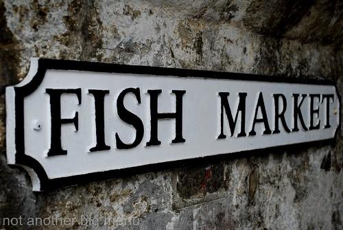 Folkestone, England - Fish market sign