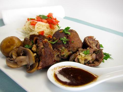 Balsamic Braised Braciole (stuffed steak) - FOODalogue