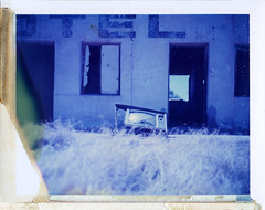 Gila Bend, AZ (moominsean) Tags: summer arizona abandoned polaroid tv desert ruin dry motel 190 gilabend type108 expired012000