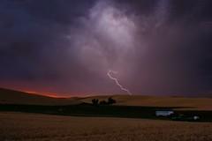 1 (Kai Eiselein) Tags: sunset storm rain weather night clouds danger dark dangerous farm sony farmland idaho electricity thunderstorm lightning alpha thunderbolt palouse a700