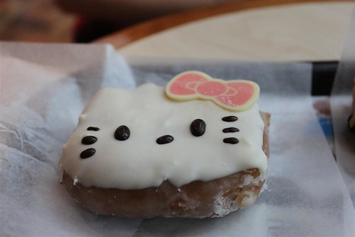 Hello Kitty Donut at Dunkin' Donuts, Myeongdong, Seoul South Korea
