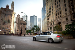 E90 M3 on Michigan Ave. (Danh Phan) Tags: chicago skyline downtown michiganave bmw m3 e90 wekfest