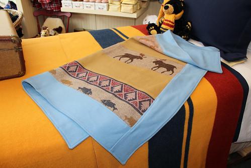my Pendleton wool baby quilt